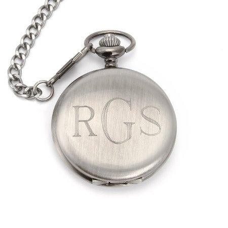 Stainless Steel Custom Engraved Pocket Watch