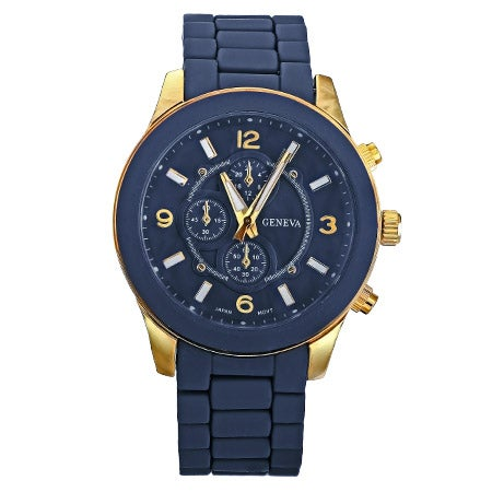 Designer Inspired Navy Blue and Gold Boyfriend Watch