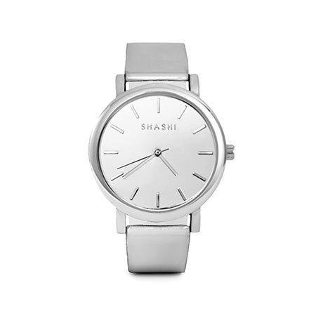 Shashi Luxe Metallic Gleam Watch in Stainless Steel | Eve's Addiction®