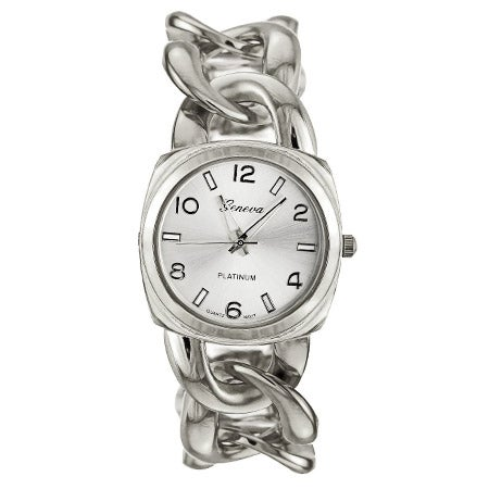 Silver Tone Curb Link Watch | Eve's Addiction®