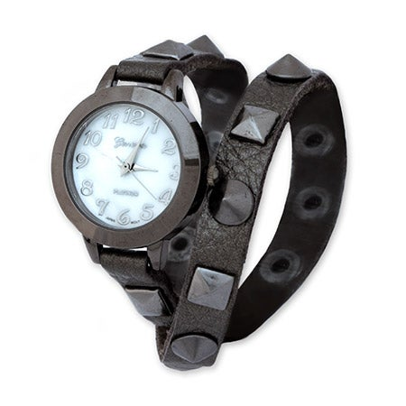 Studded Pewter Wrap Around Watch | Eve's Addiction®
