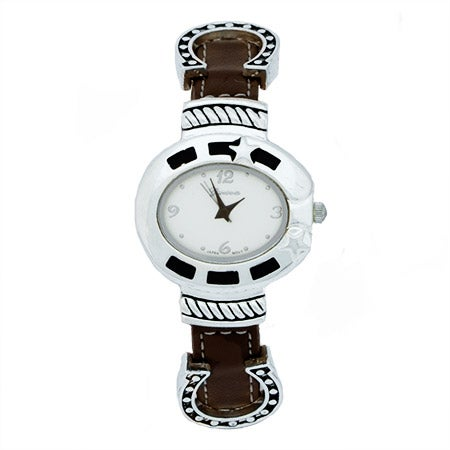 Lucky Horsehoe Brown Leather Watch | Eve's Addiction®