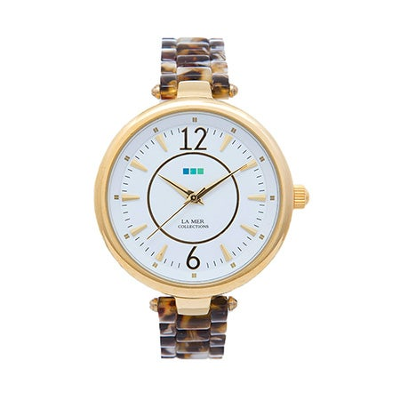 La Mer Sicily Tortoise and Gold Watch | Eve's Addiction®