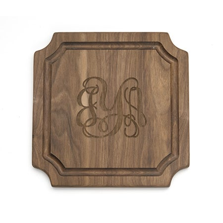 Personalized Classic Script Monogram Cutting Board