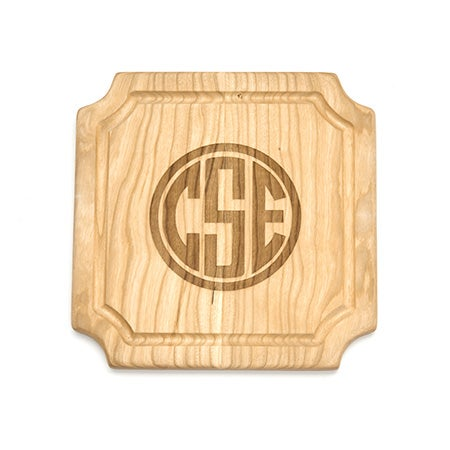 Personalized Block Monogram Wood Cutting Board