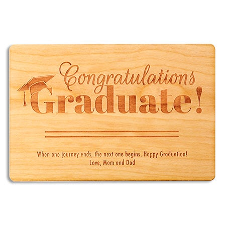 Personalized Congratulations Graduation Wood Card