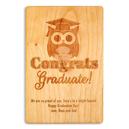 Custom Congrats Graduation Wood Card