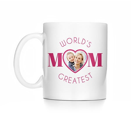 World's Greatest Mom Personalized Photo Mug