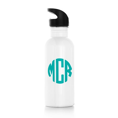 Personalized Block Monogram Water Bottle