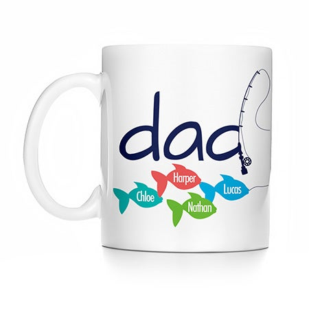 Personalized Fishing Dad Mug