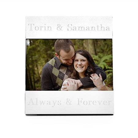 Engravable 4x6 Picture Frame with Brushed Finish