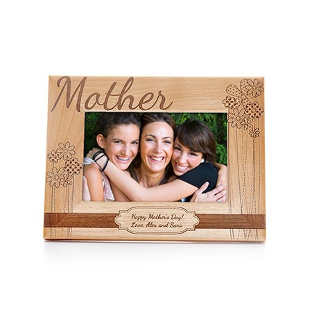 Personalized Mother Carved Wood Frame