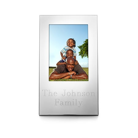 "3.5"" x 5"" Personalized Silhouette Picture Frame"