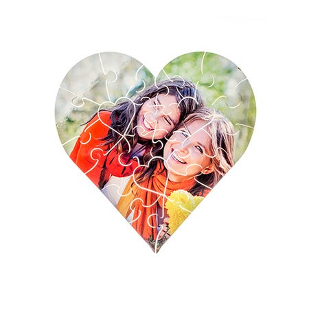 Personalized 25 Piece Heart Shaped Photo Puzzle