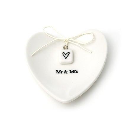 Mr. & Mrs. Heart Ring Dish