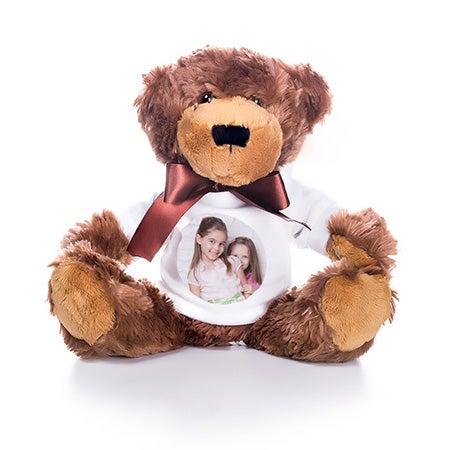 Teddy Bear with Custom Photo T-Shirt | Eve's Addiction®
