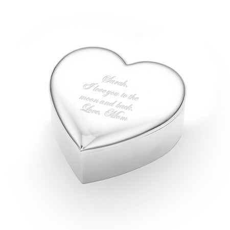 Engravable Heart Shaped Jewelry Box