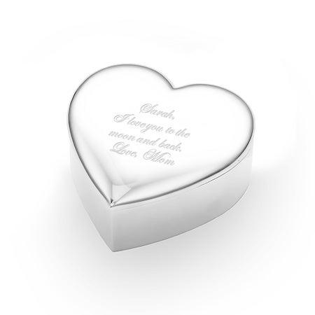 Engravable Heart Shaped Jewelry Box