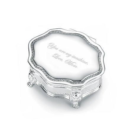Engravable Princess Victorian Jewelry Box