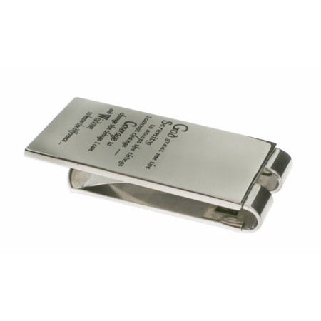 Engravable Stainless Steel Serenity Prayer Money Clip | Eve's Addiction