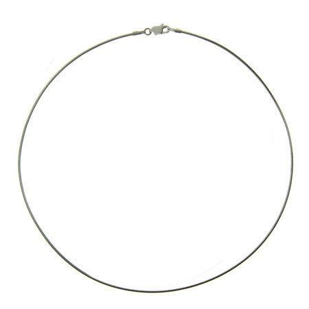 Sterling Silver Omega Necklace