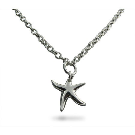 Sterling Silver Starfish Link Chain Necklace | Eve's Addiction®