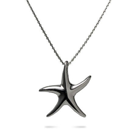Designer Style Sterling Silver Starfish Necklace | Eve's Addiction®