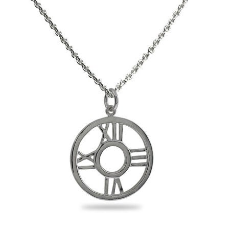 Roman Numeral Round Pendant Necklace | Eve's Addiction®
