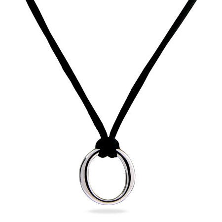 Designer Style Sterling Silver O Pendant | Eve's Addiction®