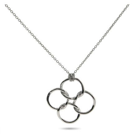 Designer Style Linked Circles Necklace | Eve's Addiction®