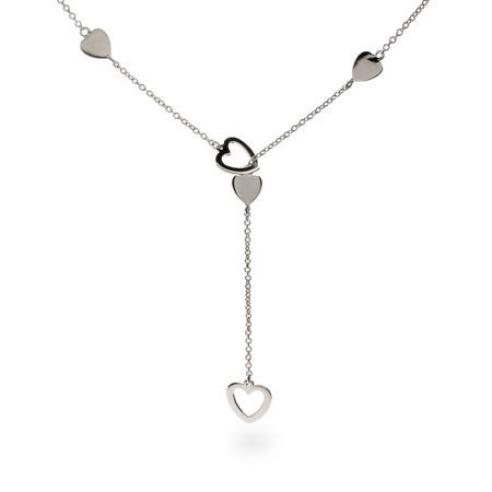 Designer Style Heart Link Lariat Necklace | Eve's Addiction®