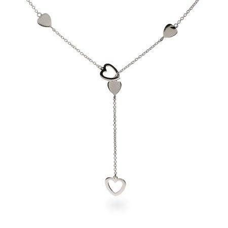 Designer Style Heart Link Lariat Necklace | Eve's Addiction®