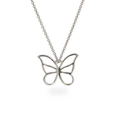 Designer Style Sterling Silver Butterfly Pendant | Eve's Addiction