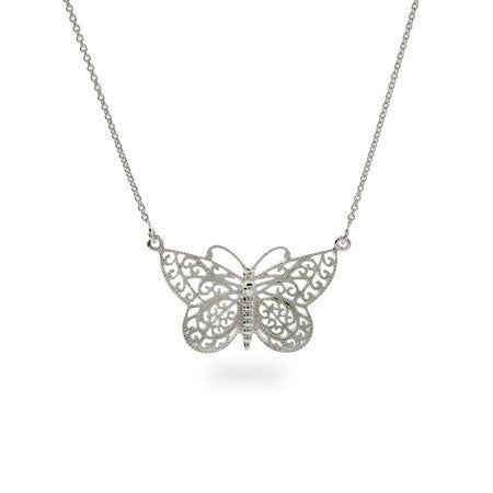 Sterling Silver Butterfly Necklace | Eve's Addiction®