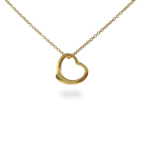 Gold Vermeil Heart Necklace | Eve's Addiction