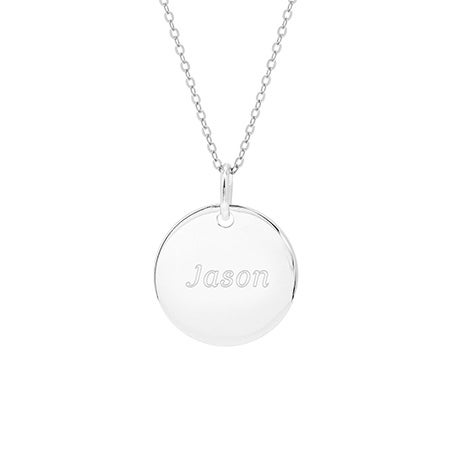 Engravable Small Round Tag Pendant | Eve's Addiction®