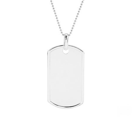 Sterling Silver Dog Tag Necklace | Eve's Addiction