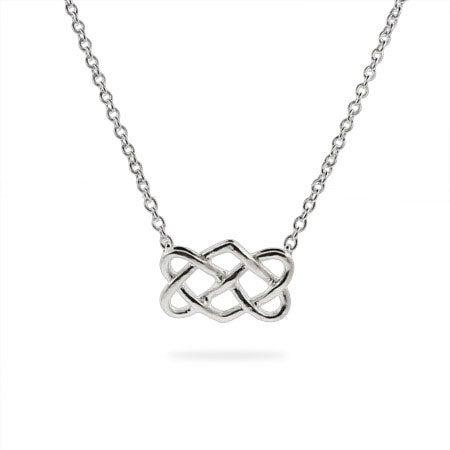 Designer Style Sterling Silver Celtic Knot Pendant | Eve's Addiction