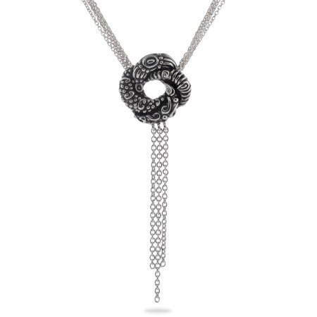 Algerian Love Knot Sterling Silver Necklace