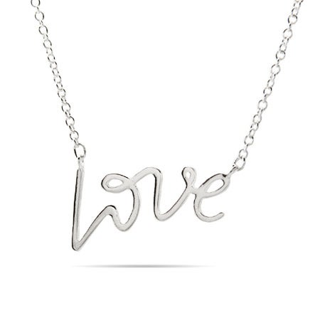 Designer Style Silver Love Necklace | Eve's Addiction®