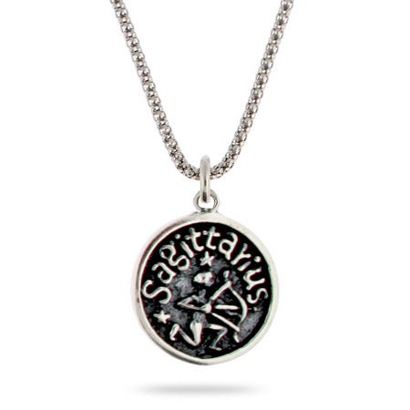 Sagottarius Zodiac Sterling Silver Pendant | Eve's Addiction