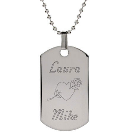Personalized Couple Love Dog Tag | Eve's Addiction®