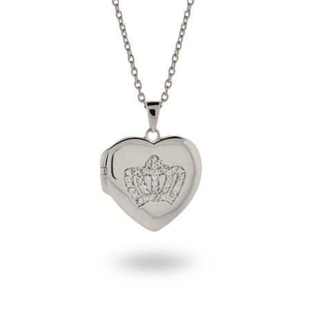 Heart Shaped Crown Locket | Eve's Addiction®
