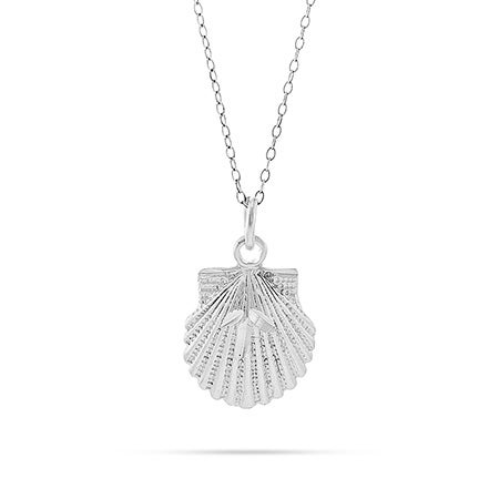 Sterling Silver Seashell Necklace | Eve's Addiction®