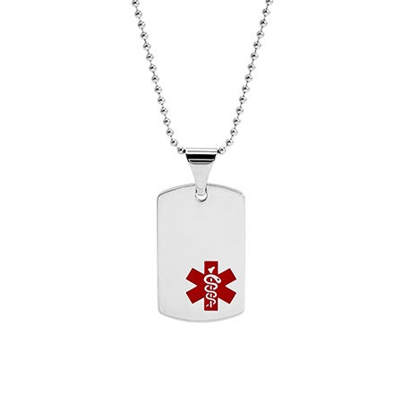 Engravable Medical ID Dog Tag Necklace | Eve's Addiction®