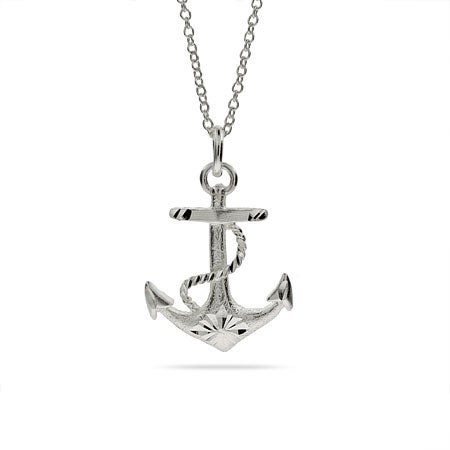 Anchor Sterling Silver Necklace | Eve's Addiction®