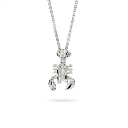 Sterling Silver Lobster Pendant