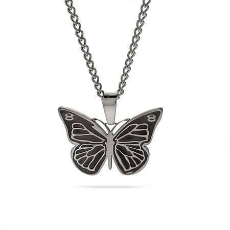 Stainless Steel Engravable Butterfly Pendant