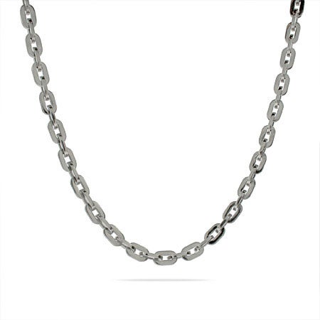 24 Inch Oval Linked Stainless Steel Chain Necklace