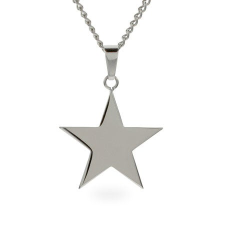 Engravable Stainless Steel Star Necklace